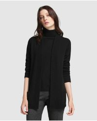 James Perse - Black Cardigan With Pockets - Lyst