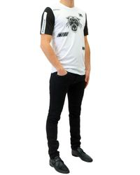 Diesel Black Gold White Cotton Toriciy-moto T-shirt for men