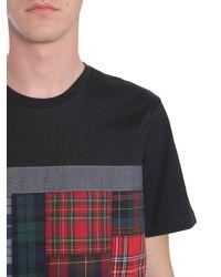 Tommy Hilfiger Black T-shirt Girocollo Con Flag Tartan for men