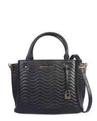 MICHAEL Michael Kors Black Arielle Matelassè Leather Bag