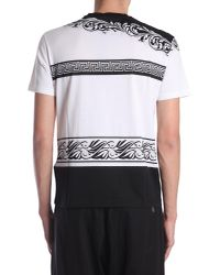 Versace - Men's A79334a225185a737 White Cotton T-shirt for Men - Lyst