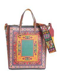 Etro - Red Borsa Shopping Con Stampa Floreale - Lyst
