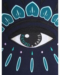 KENZO - Gray Round Collar Cottton Sweatshirt With Embroidered Eye for Men - Lyst