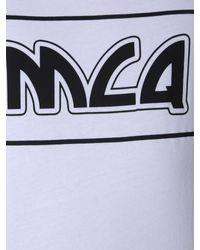 T-SHIRT GIROCOLLO IN COTONE CON STAMPA LOGO di McQ Alexander McQueen in White da Uomo
