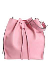 J.W. Anderson - Pink Drawstring Leather Bucket Bag - Lyst