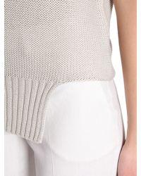 Fabiana Filippi - Gray V Collar Cotton Pullover - Lyst