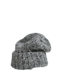 DSquared² - Gray Cappello Lana Con Visiera E Diadema - Lyst