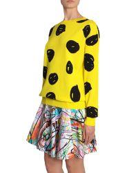 Jeremy Scott - Yellow Jacquard Cotton Jumper - Lyst