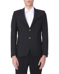 """Givenchy Black """"4g"""" Wool Jacket With Buttons for men"""