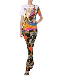 Versace Black Baroque Printed Jersey Trousers