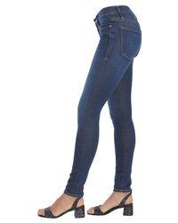 "FRAME Blue Denim Stretch Cotton ""le Skinny De Jeanne"" Jeans"