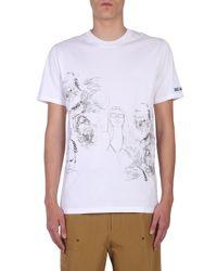 "Lanvin - White ""dragon People"" Printed Cotton T-shirt for Men - Lyst"