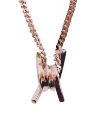 DSquared² - Metallic Barbed Wire Brass Necklace - Lyst