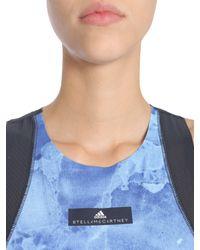 Adidas By Stella McCartney - Blue Canotta Run Climacool Stone Print - Lyst