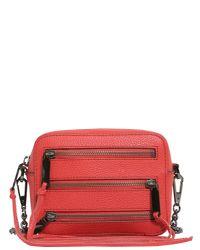 Rebecca Minkoff Red Moto 4 Zip Leather Camera Bag