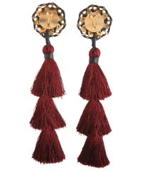DSquared² - Red Samurai Earrings With Tassels - Lyst
