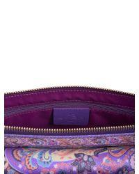 Etro - Purple Printed Shoulder Bag - Lyst