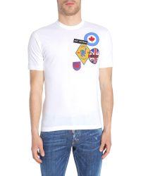 DSquared² Men's White Cotton T-shirt for men