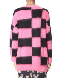 Abito In Maglia Di Misto Acrilico Check di MSGM in Pink da Uomo