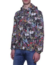Valentino - Blue Camubutterfly Print K-way In Technical Fabric for Men - Lyst