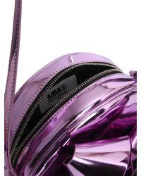 MM6 by Maison Martin Margiela - Pink Metallic Crossbody Bag With Cockade Detail - Lyst