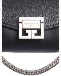 Givenchy - Black Nano Gv3 Bag In Grained And Smooth Leather - Lyst