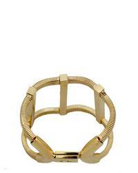 DSquared² - Metallic Brass Bracelet With Logo - Lyst