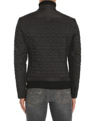 Versace Black Star Embossed Jacket In Technical Fabric for men