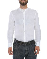 "BOSS - White Slim Fit ""rab_f"" Linen Shirt for Men - Lyst"
