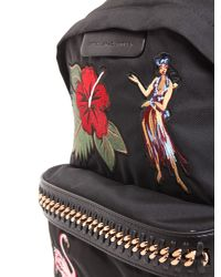 Stella McCartney - Black Falabella Go Backpack With Embroiered Patches - Lyst