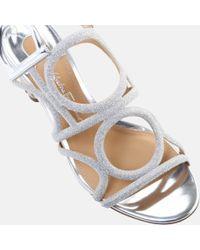 Ferragamo - Multicolor Vinci 55 Geometric Sparkle Sandal - Lyst