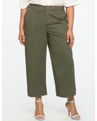 Eloquii Green Wide Leg Chino Pant
