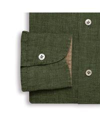 Emmett London Dark Green Linen Shirt for men