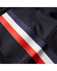 Moncler Gamme Bleu Blue Tricolour Stripe Polo for men