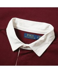 Polo Ralph Lauren Red Rugby Shirt for men