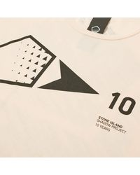 Stone Island Shadow Project Pink 10th Anniversary Print Graphic Tee for men