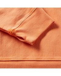 Yeezy - Orange Fleece Crew Sweat for Men - Lyst