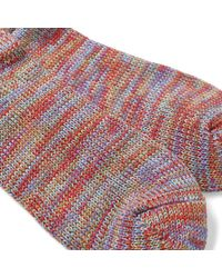 Anonymous Ism Red 5 Colour Mix Crew Sock