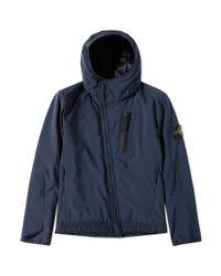 Stone Island Blue Softshell Jacket for men