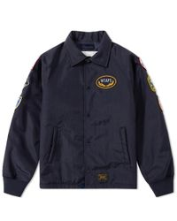 (w)taps Blue Souvenir Jacket for men