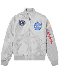 Alpha Industries Gray Ma-1 Tt Nasa Reversible Ii Jacket for men