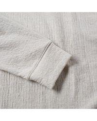 Helmut Lang Gray Texture Pullover Hoody for men