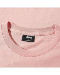 Stussy Pink Horizon Tee for men