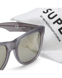 Retrosuperfuture Gray By Retrofuture Classic Sunglasses for men