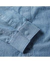 Maison Margiela Blue 10 Japanese Chambray Overshirt for men