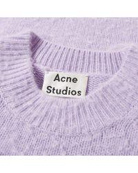 Acne - Purple Peele Knit for Men - Lyst