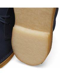 Clarks Blue Desert Boot for men
