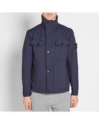 Stone Island Blue Military Jacket for men