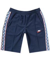 Nike Blue Taped Poly Short for men