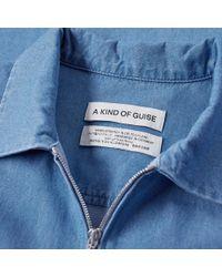 A Kind Of Guise Blue Delon Shirt for men